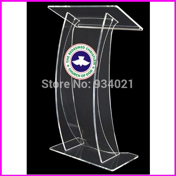 Free Shipping Church Podium, Acrylic Plastic Pulpit, Church Pulpit Designs Plexiglass