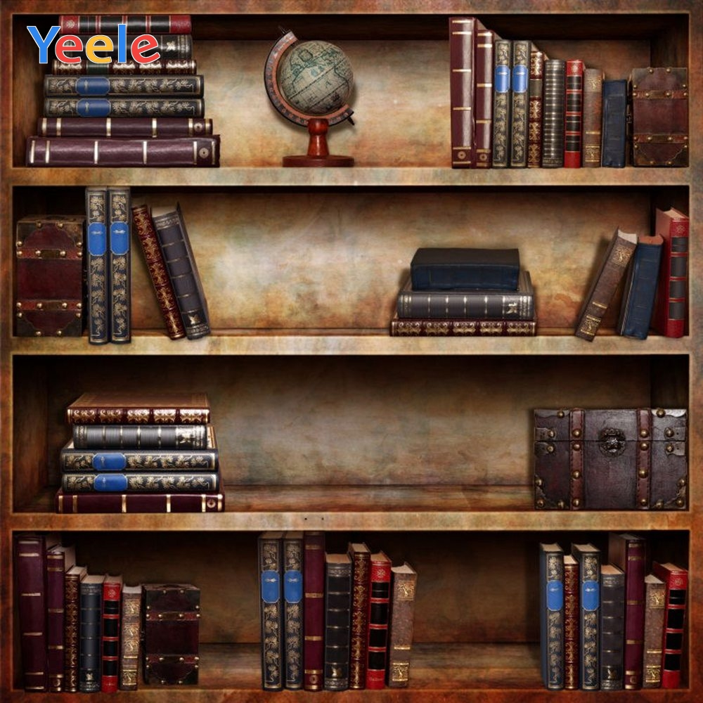 Yeele Vinyl Old Bookshelf Book Library Children Birthday Party photograph Backdrop Wedding Photocall Background Photo Studio