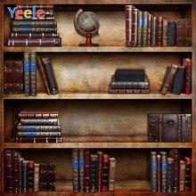 Yeele Vinyl Old Bookshelf Book Library Children Birthday Party photograph Backdrop Wedding Photocall Background Photo Studio