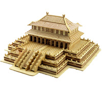BOHS Building Toys Handmade Wooden Hall of Supreme Harmony Model 3D Model DIY Scale Models