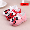 baby shoes lights 2016 new spring baby girls princess mickey shoes baby singlebow  flasher baby girls toddler shoes led children
