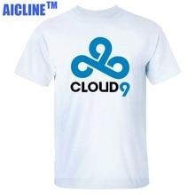 Ausgezeichnete Qualität Casual t-shirt Dota2 Dota 2 Original Design Singsing EE Bone7 TI4 Baumwolle T-shirt UNS Cloud9 Cloud 9 C9