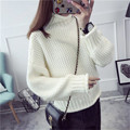 Angora Wool 2016 Winter Women Turtleneck Sweaters Knitted Pullovers Pull Femme Oversized Sweater Pullovers Thick Knitwear S264