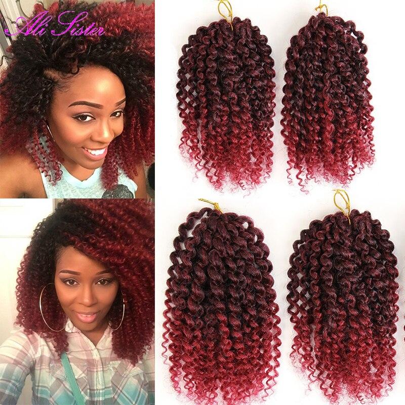 short8quot kinky curly hair 1bug ombre color braiding hair