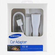 2 in 1 Original Adaptive Fast Charging Rapid Car Charger +1.5M Cable For Samsung Galaxy S6 S7 Edge Note 4 5 With Retail Package