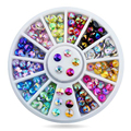 3Pcs Glitters Flat Back Mix Color 3D Nail Art Decoration Charms Nail Art Rhinestones Stones Nail Manicure Jewelry Supplies