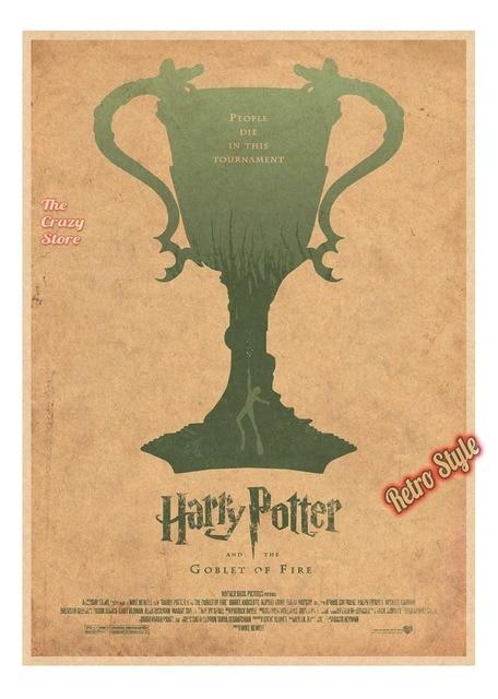 Harry Potter New Style FanArt Posters Vintage Retro Matte Kraft ...