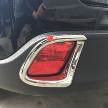 Free Shipping High Quality ABS Chrome Rear Fog lamps cover Trim Fog lamp shade Trim For Toyota Highlander цена 2017
