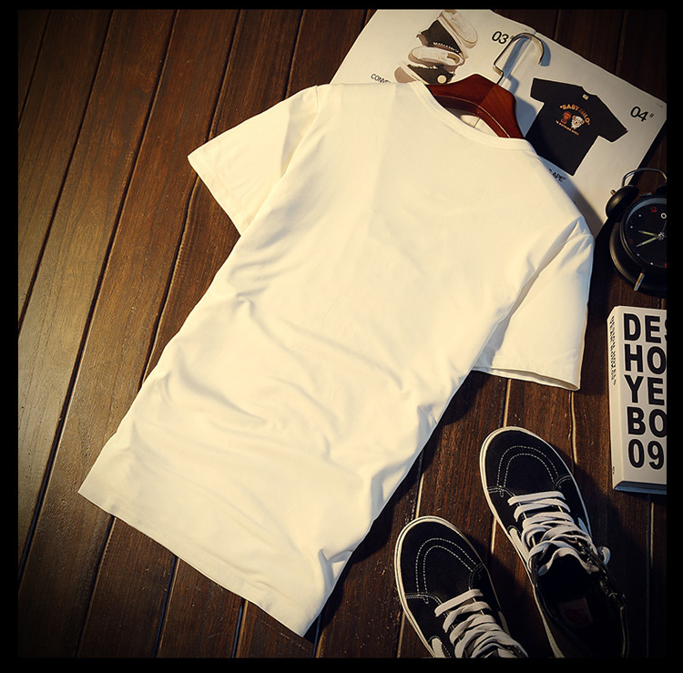New Arrival Men t shirt Print T-shirt Men High Quality Cotton Short Sleeve T Shirts Men Loose O-Neck T-shirts Plus Size S-4XL 26
