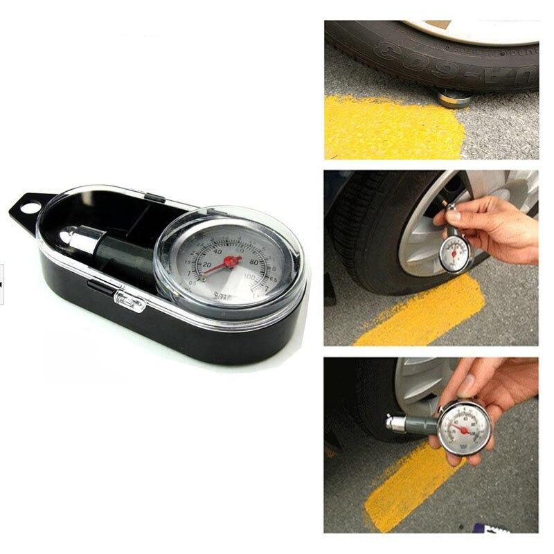 Prix pour Auto compteur Tire Pressure Gauge Car Auto Motor Bike Type Air Manomètre Compteur Du Véhicule Tester système de surveillance