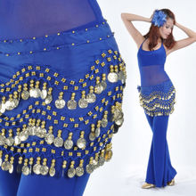NEW Top Sell Belly Dance Hip Scarf Belt Golden Coin Danding belt  13 Colors for choice
