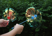 1Pcs Funny Popular Soap Bubble Colorful Shook Stick Blowing Bubble Play Outdoor Activety Wands Toys Amused for Children Kid Baby