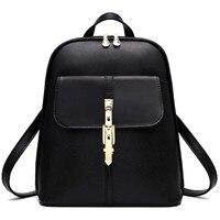 New Women Designer Brand Elegant Backpacks Vintage Pu Leather Backpack Mochilas De Mujer School Backpacks For