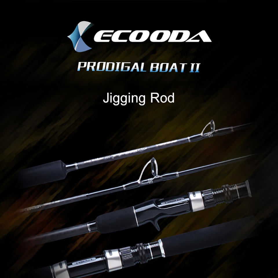Ecooda Japan Guide Lure Weight 60-500g Sea Boat Jigging Fishing Rod 1 Sections Carbon Fiber Saltwater Spinning Fishing Rod ecooda spinning casting fishing rod 50 200g lure weight portable super light carbon fiber fishing rod