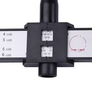Image 2 - 1 PCS Car Tools Car Accessories Wheel Hub Hand Tool 4 5 6 8 Holes Lug Measuring Gauge Cars Wheel Hub PCD Steel Tyre Accessories