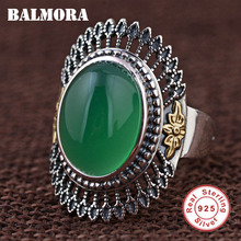 BALMORA 100% Real 925 Sterling Silver Resizable Rings for Women Mother Lover Party Gift Vintage Fashion Jewelry Anillos MN20778