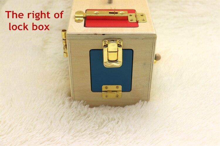 Montessori jouets 3 ans serrure boîte Montessori matériaux sensoriels éducatifs en bois jouets pour enfants Montessori bébé jouets - 3