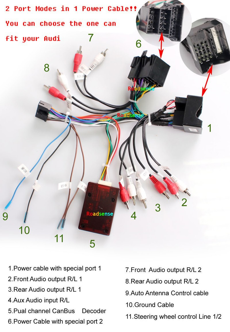 AUDI-best- Cable-for-audi-Car-Radio-GPS-DVD-Player