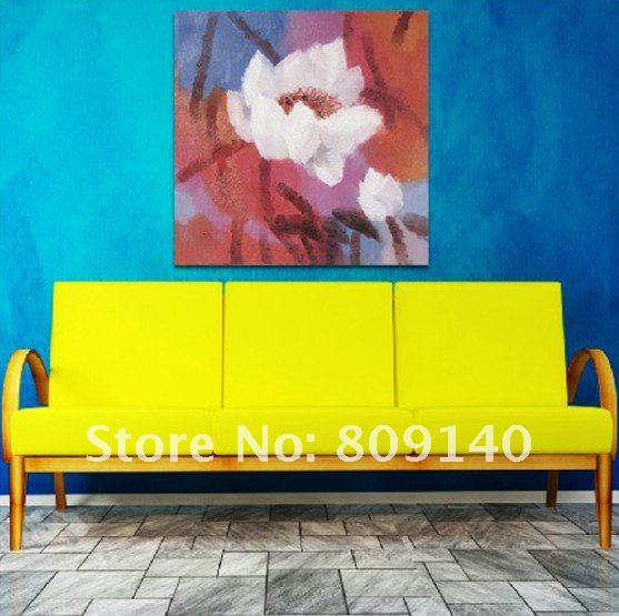 oil painting canvas Modern Flower Red White decoration Asia high ...
