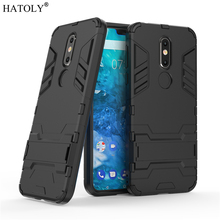 For Cover Nokia 7.1 Case Rubber Robot Armor Shell Bumper Protective Hard PC Back Phone Case for Nokia 7.1 Cover for Nokia 7.1 стоимость