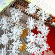 30pcs/lot Xmas White Snowflake Classic Charming Party Holiday Christmas Ornament