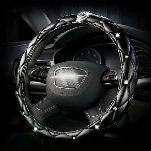 capa protetora para volante de carro em couro cobertura para volante de carro em couro