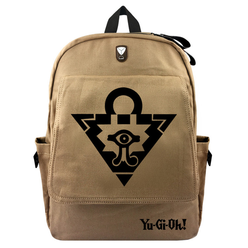 Yu Gi Oh Japan Anime Canvas Backpack Laptop Bag School Bag Shoulder Bag Travel Cosplay Bag With Earphone Hole Durable