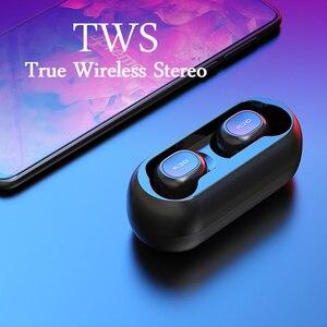Image 2 - 2018 큐씨와이 T1 TWS 미니 블루투스 헤드폰 이어폰 스테레오베이스 무선 헤드셋 이어 버드 (모든 폰용 마이크 충전 박스 포함)