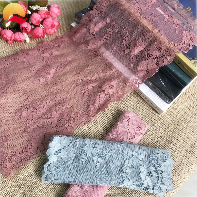 !18.5cmE2670Multi-color blue and pink high quality stretch lace decoration DIY garment sewing fabric dress underwear and shorts image