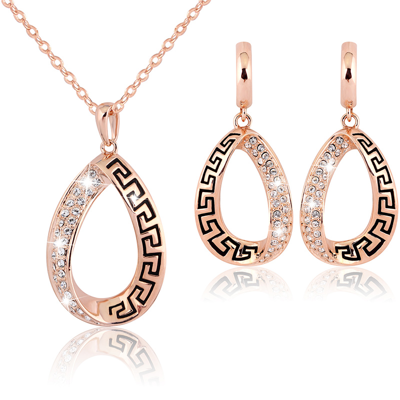Wedding Accessories Gold Color Fashion Jewelry Set Fashion Necklace