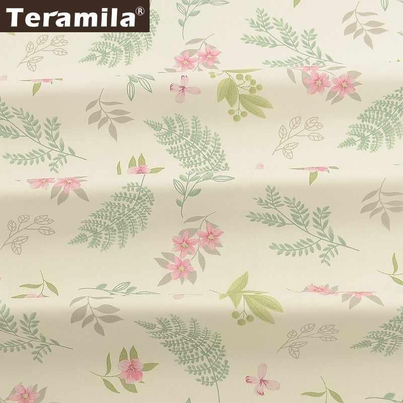 Teramila 100% Baumwolle Twill Stoff Meter Blumen Telas Algodon Tuch DIY Tissus Kleid Patchwork Quilts Beedsheet Vorhänge Hause