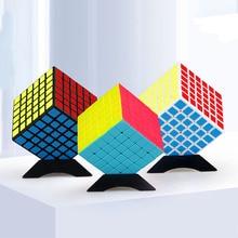 6x6x6 Profession Fidget Magic Cube Competition Magic Cube Six Layers Black Non-Sticker Speed Twist Cube For Kid Toy 6.7cm недорго, оригинальная цена