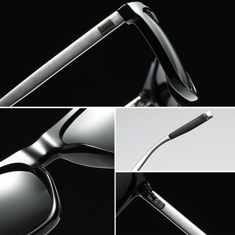 dba51a5f68 DUBERY Polarized Sunglasses Men Night Vision Driving Aluminum ...
