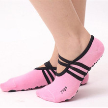 Женская Полосатая повязка, хлопковые спортивные носки для йоги, женские вентиляционные Пилатес, детские колготки, танцевальные носки, Тапочки