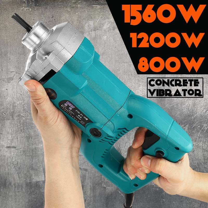 800W/1200W/1560W Electric Concrete Vibrators Needle Lightweight Concrete Mixer Strong Motor Construction Tools