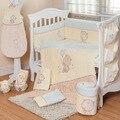 7 Pcs Berço Cama Conjunto de Recém-nascidos Do Bebê Do Algodão Dos Desenhos Animados Engrossar Inverno Destacável Quilt Fronha Bumpers Folha de Cama Berço Berço Cama conjunto