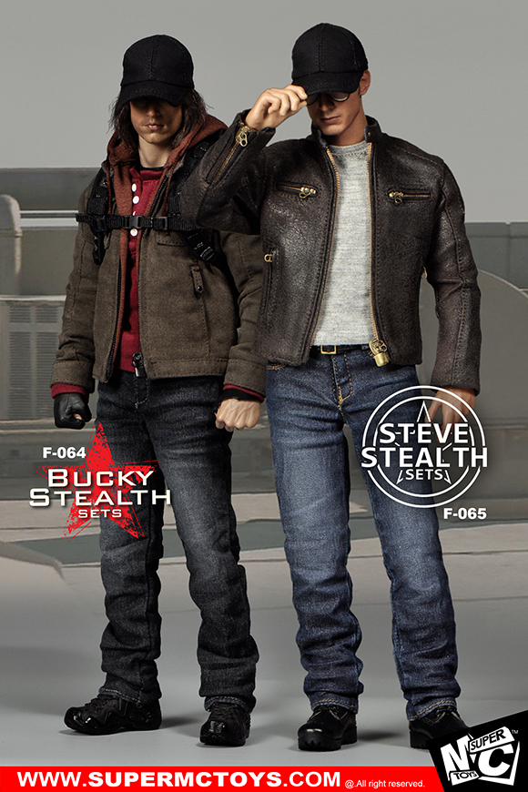 1/6th scale figure Accessory Captain America Bucky or Steve Clothes sets for 12 Action figure doll.body and head not included 1 6 scale figure captain america civil war or avengers ii scarlet witch 12 action figure doll collectible model plastic toy