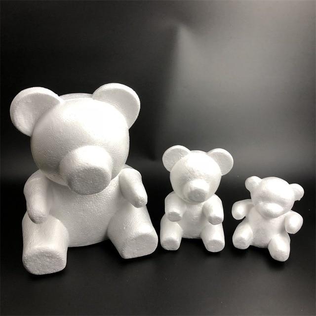 Rose bear flower Bear 15 cm 20 cm size embryo foam roseonly  Bear mold foam plastic flower artificial flowers mold