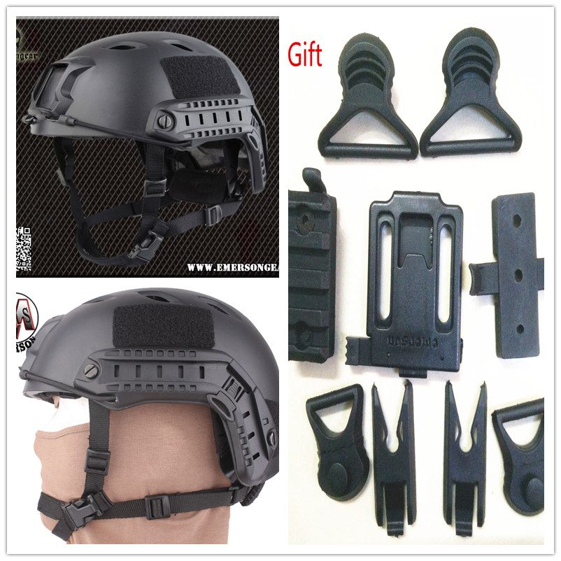 Регулируемая база перейти шлем Эмерсон быстро шлем пришиты-BJ Тип защитный шлем черный 5659B АБС