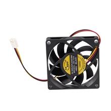 цена на 70x70mm 12V 3-Pin PC Computer Case CPU DC Brushless Cooler Cooling Fan Black