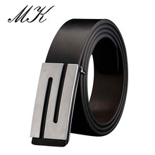 Luxury Leather Belts for Men Reversible Belt Fashion S Letter Smooth Buckle Brand Designers Mens