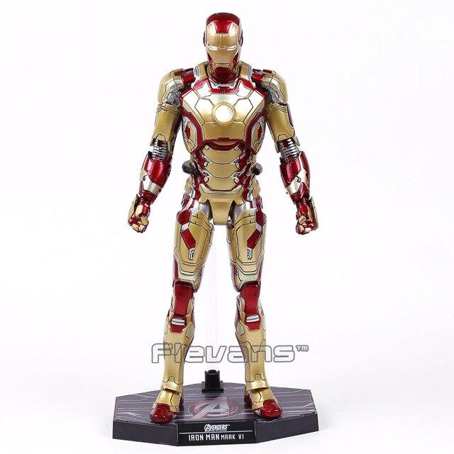 """צעצועים חמים איש ברזל מארק XLII ח""""כ 42 עם LED אור 1/6th סולם אסיפה איור דגם צעצוע 12 """"30 cm"""
