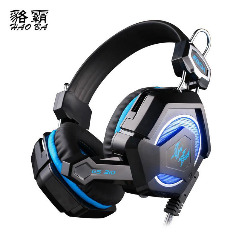 HAOBA GS210 sparkling Headphone 3.5mm Connection port LED Cool lights Gaming headphones