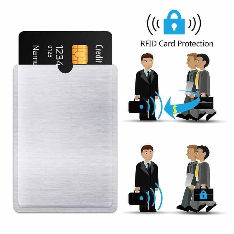 5 Pack RFID Blocking Sleeves Anti Theft RFID Card Protector RFID Blocking Sleeve Identity  5 Passport Card set Wallet Pocket