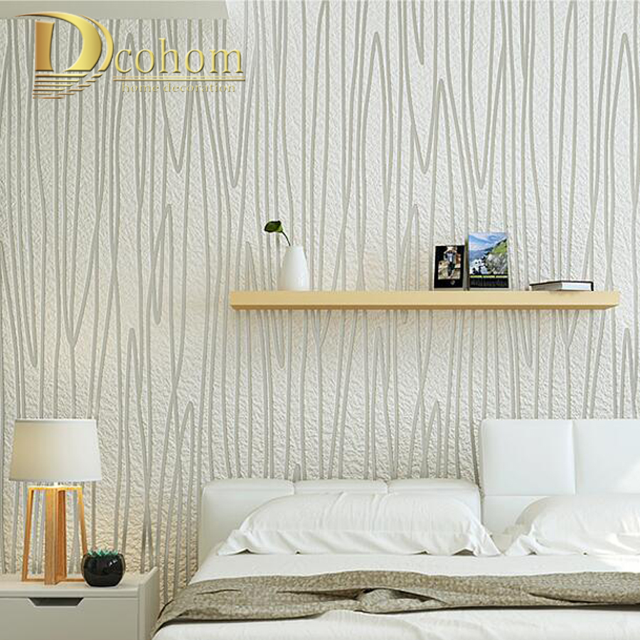 ФОТО High Quality Thick Flocked Geometric 3D Modern Striped Wallpaper For Walls White Grey Luxury Wall Paper Rolls For Living Room