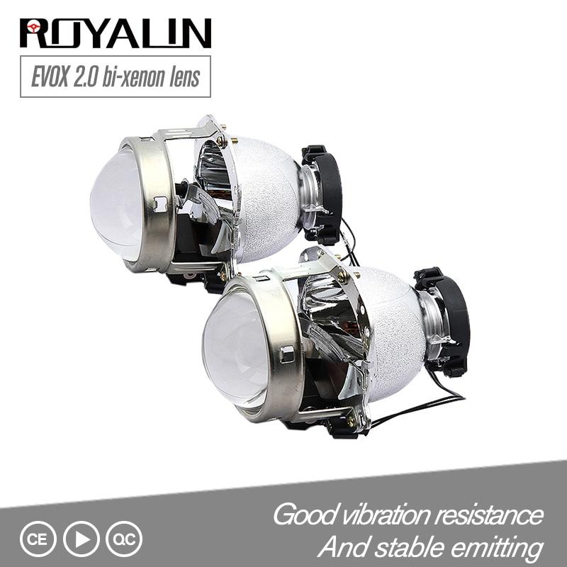 ROYALIN Pour Hella EVOX 2.0 D2S phare de projecteur Bi Xenon Objectif pour BMW E39 E60 Ford Audi A6 C5 C6 W211 passat B6 Skoda Fabia