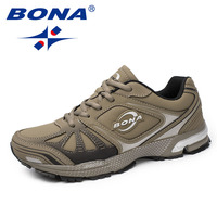BONA New Typical Style Men Running Shoes Lace Up Men Sport Shoes Outdoor Jonng Sneakers Comfortable Light soft Free Shipping