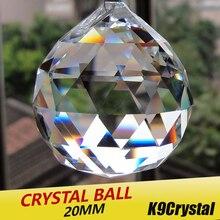 20 шт./лот, 20 мм, стеклянные кристаллы для люстры, граненый подвесной шар, хрустальные капли для люстры, детали для украшения дома