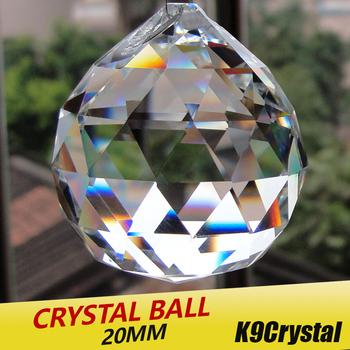 20 sztuk partia 20mm szklane kryształy do żyrandoli fasetowana wisząca kula kryształowe krople do części do żyrandola do dekoracji wnętrz tanie i dobre opinie 24mm Kryształowy żyrandol
