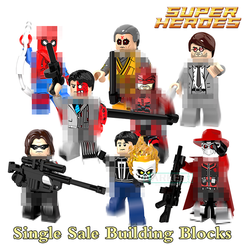 Building Blocks PG8069 Deadshot Two Face Matt Murdoch Iker Super Heroes Star Wars Set Action Dolls Kids DIY Toys Hobbies Figures single building blocks kits ninja pythor kozu lloyd zane nya figures super heroes star wars model bricks kids toys hobbies x0143